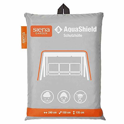 Siena Garden AquaShield Schaukelschutzhülle, silber-grau, mit Active Air System, 240x150x135cm