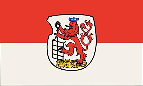 magFlags Flagge: Large Stadt WuppertalBeschreibung des Wappens Das Wappen der Stadt Wuppertal zeigt in Silber Weiß | Querformat Fahne | 1.35m² | 90x150cm » Fahne 100% Made in Ger