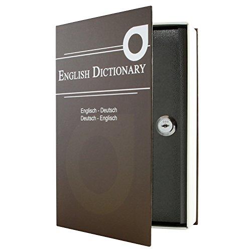 HMF 309-19 Buchsafe, Geldkassette getarnt als - English Dictionary 23,5 x 15,5 x 5,5 cm , braun