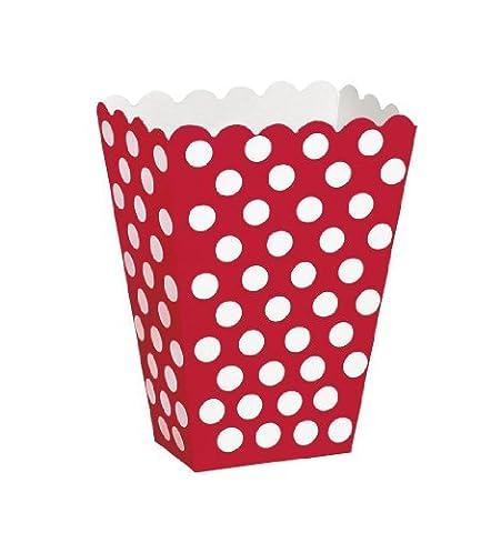 neuf rouge Pois coloré Complet Couverts De Table Fête Soirée Gamme (Nombreux Articles fête to choose from - Combine commandes pour economisez sur envoie - Popcorn Boites Fête (8 pièces), 8