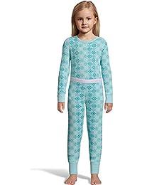 Hanes girls Print Waffle Knit Thermal Set (125701)