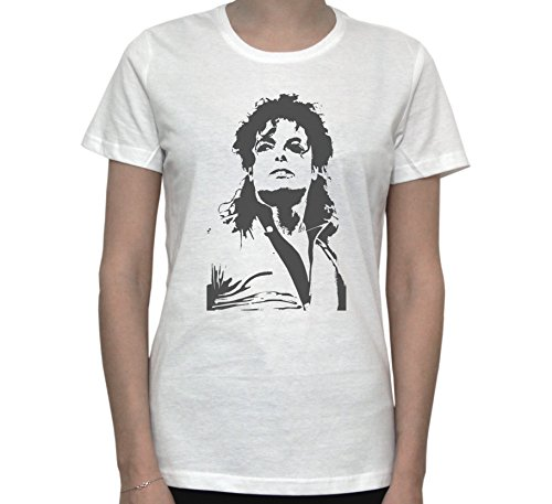 Michael Jackson Fan Art Black and White Graphics Women's T-Shirt X-Large