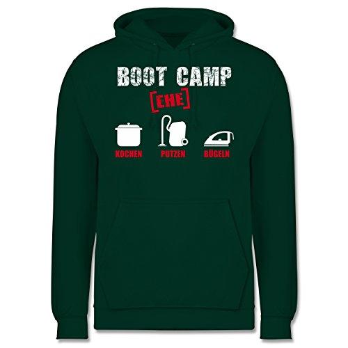 Typisch Männer - Boot Camp Ehe - Männer Premium Kapuzenpullover / Hoodie Dunkelgrün