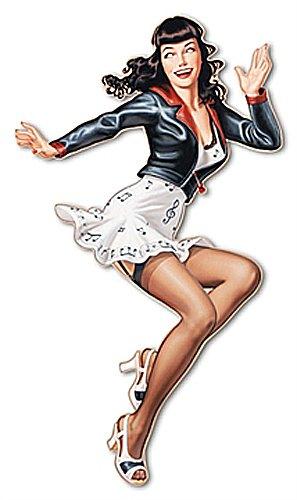 Betty dance , Pin-up Wandskulptur von Patrick Hitte, Acrylglas , Grösse 51 x 90 cm, Motiv körpernah ausgeschnitten , Plexiglasfertigbild , Wohnen und Bilder