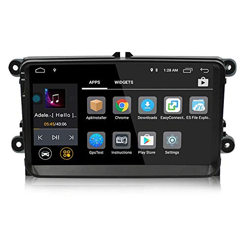 Android 8.0 Auto Stereo 9 Zoll IPS Touchscreen Bluetooth GPS AM/FM/RDS USB-Player 2-Din Autoradio Head Unit für VW Passat Golf MK5 MK6 -