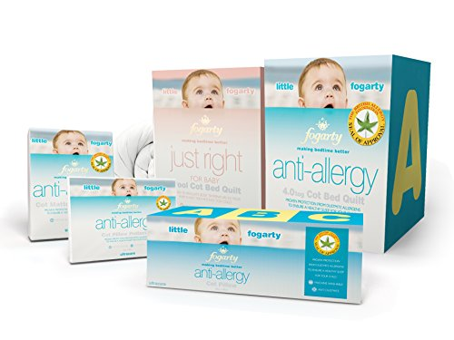 Fogarty Little Anti-Allergy Cot Bed Quilted Mattress Protector