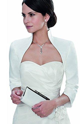 Braut Bolero Jacke aus Satin, bei EVENT-MODE in Achim