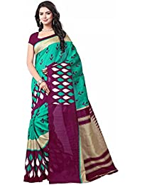 [Sponsored Products]Rangreza Women's Cotton Silk Saree With Blouse Piece (Pgzsaree-0011,Multicolor,Free Size)