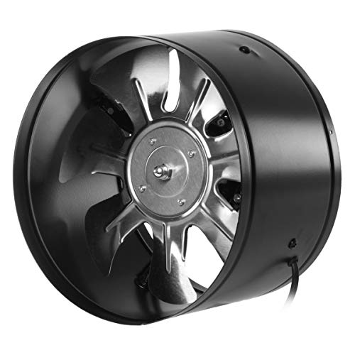 8 Duct Fan (ExcLent 220V 4/6/8/10 Inch Inline Duct Fan Booster Exhaust Blower Air Cooling Vent Black-8)