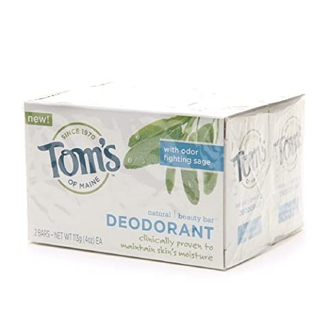 Deodorant Natural Beauty Bar Soap, Deodorant 4 oz (Pack of 2) by Tom's of Maine
