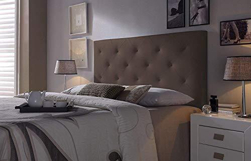 Cabezal tapizado Rombo 150X60 Chocolate, Acolchado con Espuma, 8 cm de Grosor, Incluye herrajes para Colgar