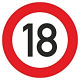 Geburtstagschild 18 Verkehrszeichen Verkehrsschild Straßenschild Geburtstagsschild Schild Geburtstag PVC 40 cm