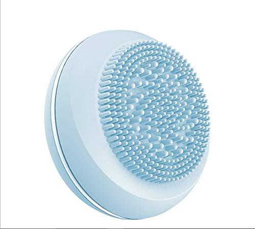 Mini-Fun-Version Des Elektrischen Silikon-Reinigungsinstrument Waschbürste Doppelseitige Bürste Silikon Massage Waschbürste Reinigung Porenreinigungsbürste Reinigung Gesicht Waschbürste,Blue (Massager-ion Gesicht)
