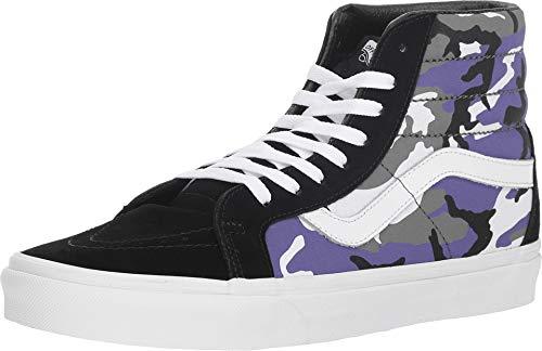 Vans CAMO POP High-Top-Sneaker für Herren aus schwarzem und lila Canvas VN0A2XSBRK41