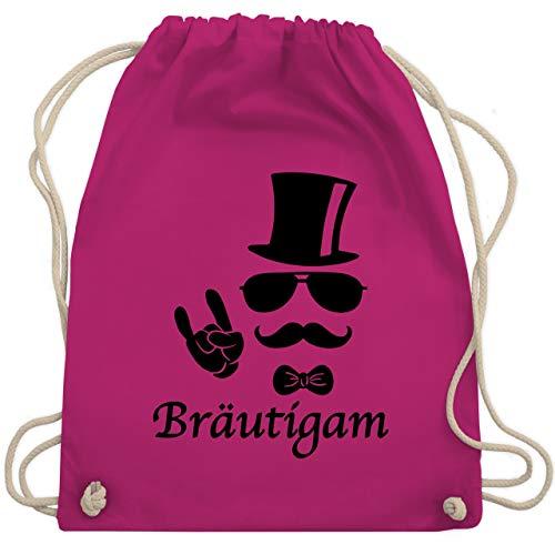 JGA Junggesellenabschied - Bräutigam Hipster Suit up - Unisize - Fuchsia - WM110 - Turnbeutel & Gym ()