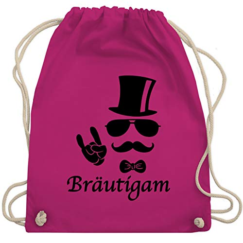 JGA Junggesellenabschied - Bräutigam Hipster Suit up - Unisize - Fuchsia - WM110 - Turnbeutel & Gym Bag