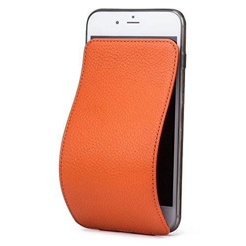 Marcel-Robert - Lederhülle für iPhone 8 - patentiertes Model - aus Echten Kalbleder - Premium-Qualität - Hergestellt in Frankreich - [ ORANGE ] - Französisch-kalb-leder