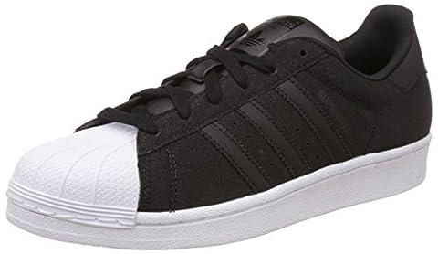 adidas Superstar Damen Sneakers, schwarz / weiß, 43 1/3 EU