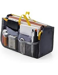 e3e039d7af0e1 Damen Reise Einsatz Handtasche Organizer Tidy Bag Geldbörse Liner Kosmetik  1 Stück (Grau) Paddy
