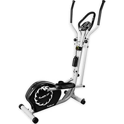 Movit® S1000 elliptischer Crosstrainer Stepper Heimtrainer Nordic Walking Ergometer Ellipsentrainer mit 10kg Schwungmasse, Magnetbremse, Pulsmesser, Trainingscomputer, TÜV GS