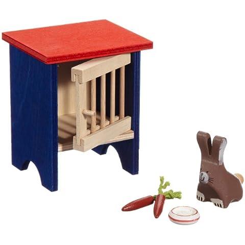 Selecta 4188 - Conejo y jaula para casita de muñecas