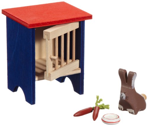 Imagen 1 de Selecta 4188 - Conejo y jaula para casita de muñecas