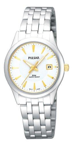 Pulsar Uhren Klassik PH7157X1 - Reloj analógico de cuarzo para mujer, correa de acero inoxidable color plateado