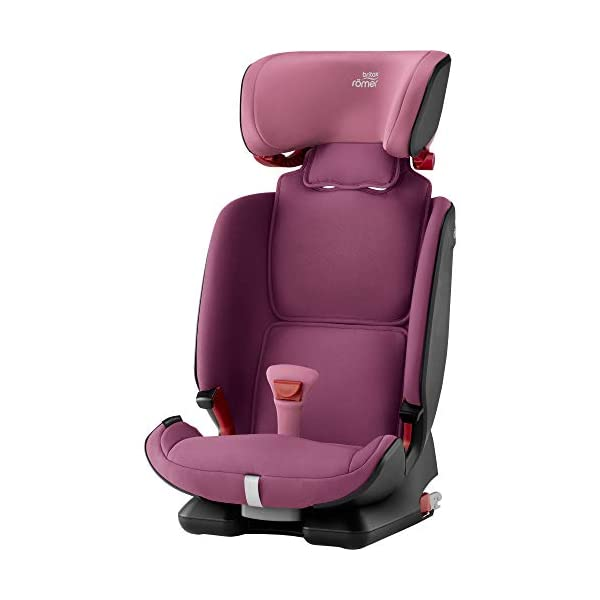 Britax Römer ADVANSAFIX IV M Group 1-2-3 (9-36KG) Car Seat- Wine Rose Britax Römer Our patented pivot link isofix system directs the force first downward into the vehicle seat, and then forward more gently - greatly reducing the risk of head and neck injury for your child We believe that a 5-point harness is the safest way to secure your child in a car seat because it keeps your child safe and tight in the seat's protective shell Soft neoprene performance chest pads fit comfortably on your child's chest. They help reduce your child's movement in the event of a collision, and add even greater comfort to the 5-point harness 3
