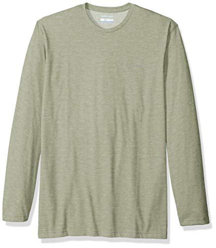 Safari Long Sleeve Tee (Columbia Herren Thistletown Park Big & Tall Long Sleeve Crew Hemd, Safari Heather, 3X)