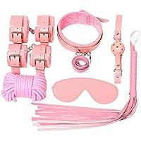 Set de 10 Piezas de Ropa de Cama Sèx Games Bondage Set para Dormitorio (Color : Pink)
