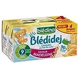 Blédina blédidèj brique de lait et céréales saveur madeleine 4x250ml dès 9 mois