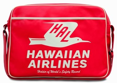 LOGOSH!RT - HAL HAWAIIAN AIRLINES Retro Tasche Airliner Bag Umhängetasche - ROT - QUER