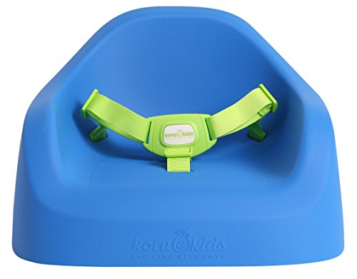 Koru Kids Toddler Booster - Sitzerhöhung auf Stühlen für Baby Kleinkinder Kinder ab 12 Monate bis etwa 6 Jahre Boostersitz Kindersitz Stuhlsitz (Ocean Blue)