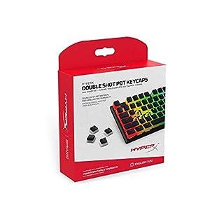 HyperX HXS-KBKC3 Double Shot PBT Gaming Keycaps – Kompatibel mit HyperX mechanischen Gaming-Tastaturen, mit HyperX Keycap Entfernungs-Tool (US Layout)