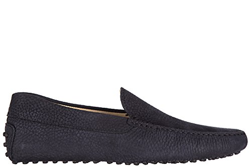 tods-mens-leather-loafers-moccasins-pantofola-gommini-122-blu-uk-size-8-xxm0gw0s570naru801