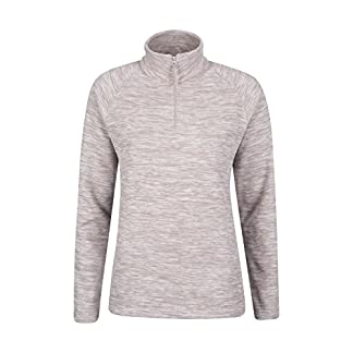 Mountain Warehouse Snowdon Womens Fleece Top - Warm Pullover, Lightweight Sweater, Half Zip, Breathable Ladies Tee, Quick Drying - for Winter Walking, Travelling 6