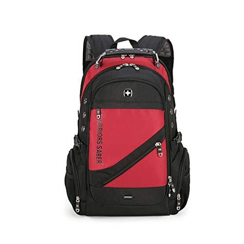 HBJP Multifunktions-Sportrucksack Schweizer Warrior Sabre Umhängetasche im Freien mit wasserdichter Nylon-Reisetasche Rucksack (Farbe : Red) (Sabre Red-home)