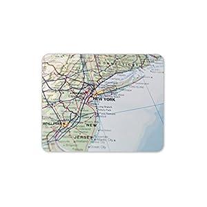 Nueva York Mapa tapete de ratones Cojín – EE.UU. geográfica América del regalo de la PC del ordenador # 8238