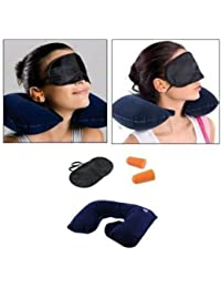 Babar 3 In 1 Super Soft Travel Neck Pillow Easy To Carry Multi Utility Travel Kit With Eye Mask And 2 Ear Plugs