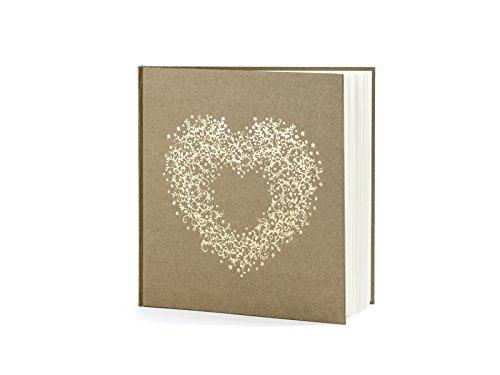 deCOnzept GÄSTEBUCH Hochzeit Fotobuch Bilderbuch Hochzeitsgeschenk Wedding Guest Book (mit goldenem Herz)
