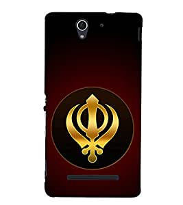 Khanda Sahab Hard Polycarbonate Designer Back Case Cover for Sony Xperia C3 Dual :: Sony Xperia C3 Dual D2502