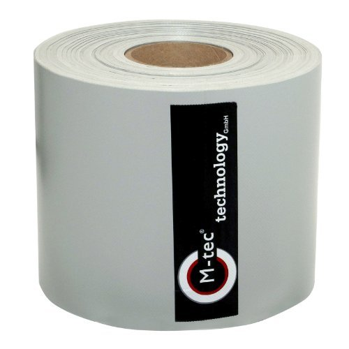 Zaunsichtschutz M-tec Profi-line PVC ✔ Sichtschutzstreifen ✔ lichtgrau ✔ 65 m x 19 cm ✔ für Doppelstabmattenzaun ✔ hochwertig ✔stabil ✔ blickdicht, | Nach M-tec