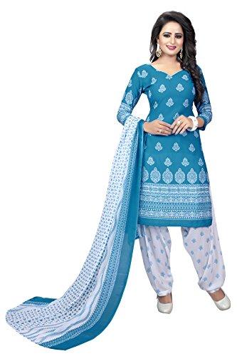 Globalia Creation Women's Georgette Salwar Suit Set (Multi_Free Size)