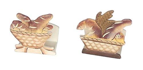 Preisvergleich Produktbild Importacion ausfuhrgeschäfte - Serviettenhalter Holz Brot 0625