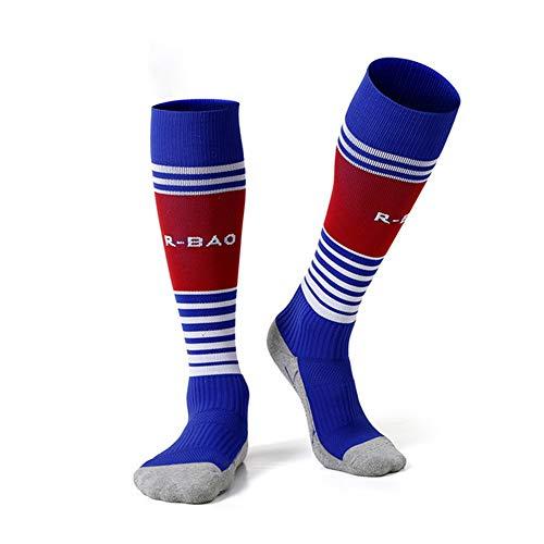 MLYmid Lange Streifen gestreifte Socken Knie Jugend universelle Fußballsocken atmungsaktiv Fußball Baseball Basketball Hockey Rohr Kniehohe Söckchen - Streifen-jugend-socken