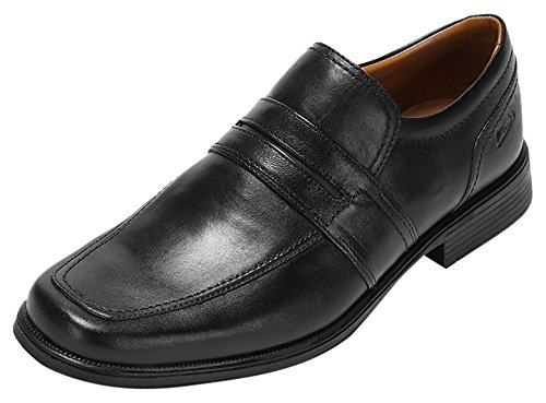 Clarks Huckley Work Black Leather 8.5 UK G / 42.5 EU