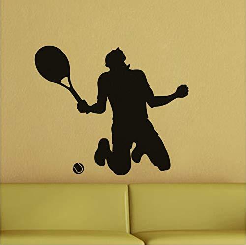 Wuyyii 51X61 Cm Tennis Gewinner Wandtattoo Vierzig Verschiedene Farben Verfügbar Vinyl Wandaufkleber Für Tennis Fans Schlafzimmer Wohnkultur Wandbild