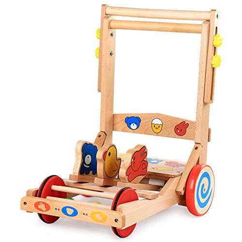 LTSWEET Baby Lauflernhilfen Hölzern Gehfrei Lauflernwagen Kinderspielzeug Geschenk Safety Baby Walker Förderung Motorischer Fähigkeiten