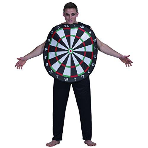 Für Kostüm Erwachsene Dartscheibe - EraSpooky Dart Board Kostüm