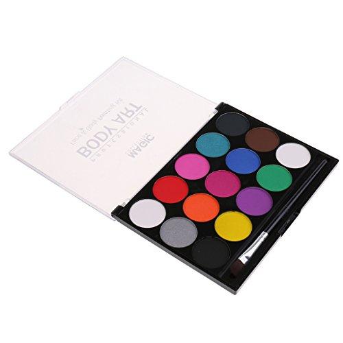 Gazechimp 15 Color Kit Maquillaje de Etapa Pintura de Cara Cuerpo Jueg